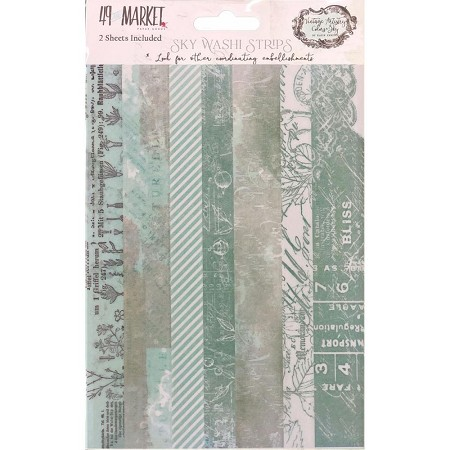 49 and Market - Sky Washi Strips Vintage Artistry Colors