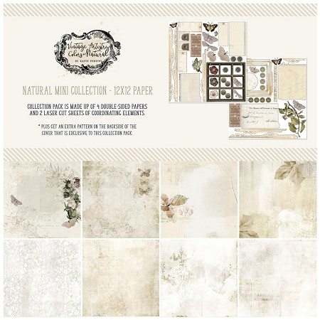 "49 and Market - Natural Vintage Artistry Colors 12""x12"" Collection Pack"