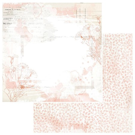 "49 and Market - Fleur Coral Vintage Artistry Colors 12""x12"" Double-Sided Cardstock"