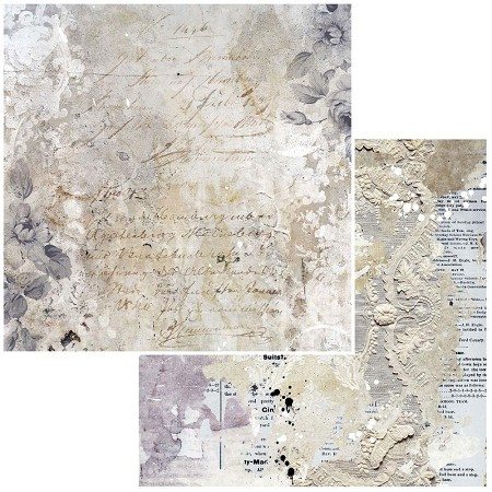 "49 and Market - Remnants Mini Forgotten 12""x12"" Double-Sided Cardstock"