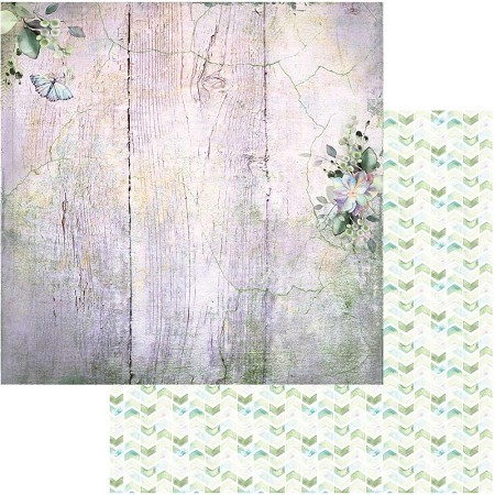 "49 and Market - Serendipitous Misty Breeze 12""x12"" Double-Sided Cardstock"