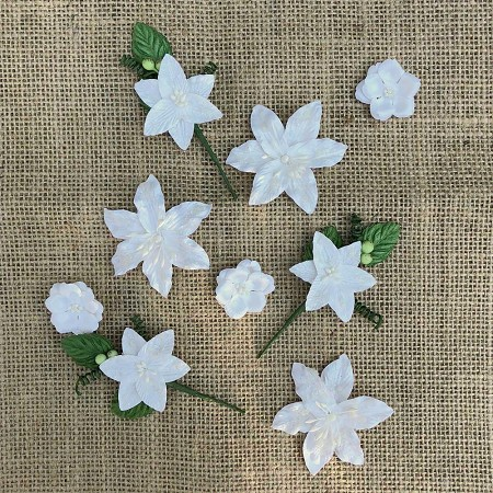 49 and Market - Paper Flowers - Stargazers Simply White