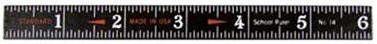 7 Gypsies- Wooden Ruler-School Black :)