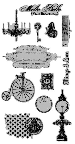 Hampton Art - 7 Gypsies - Molto Bello Cling Mounted Rubber Stamps :)