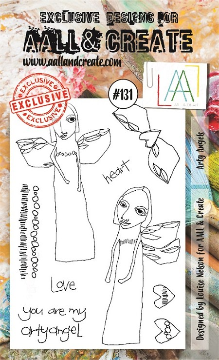 AALL & Create - Clear Stamp A6 size - Set #131 Arty Angels