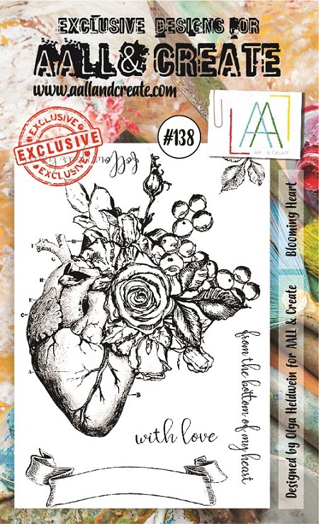 AALL & Create - Clear Stamp A6 size - Set #138 Blooming Heart