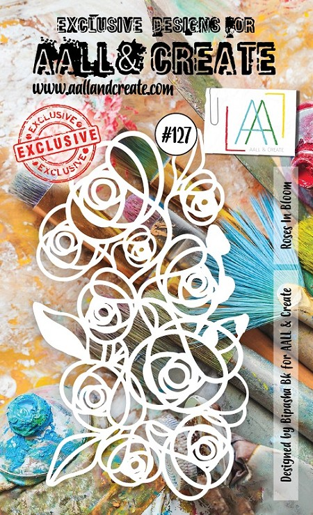 AALL & Create - A6 Plastic Stencil - #127 Roses in Bloom