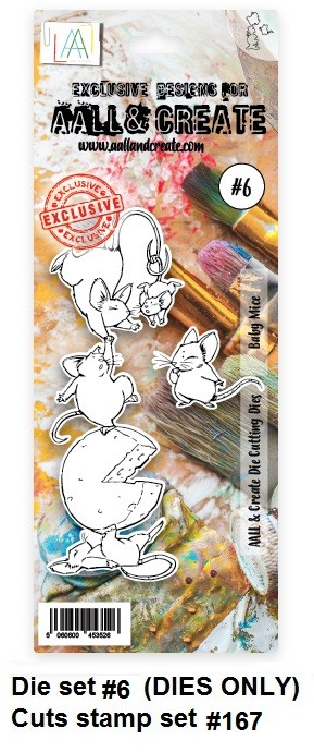 AALL & Create - Die #6 Baby Mice (cuts stamp #167)