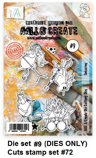 AALL & Create - Die #9 Unicorns (cuts stamp #72)