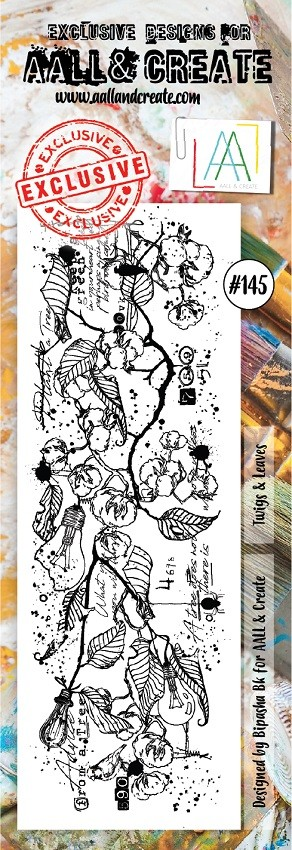AALL & Create - Clear Stamp Border - Set #145 Twigs & Leaves