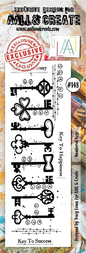 AALL & Create - Clear Stamp Border - Set #148 Numbered Keys