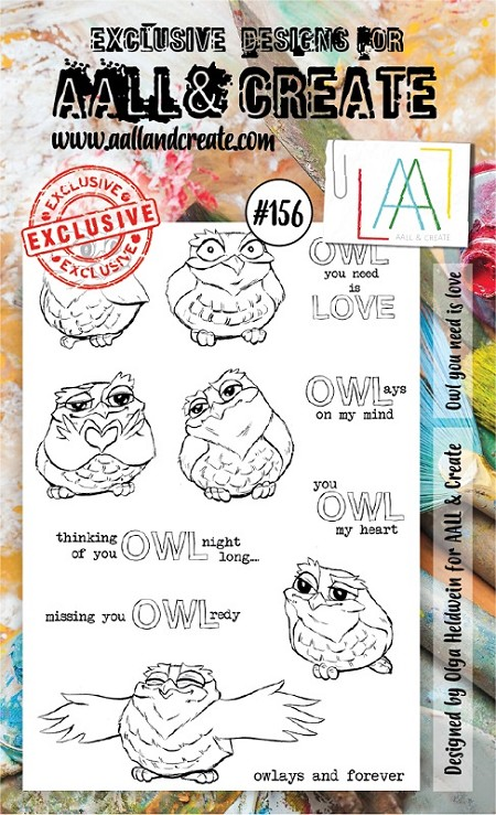 AALL & Create - Clear Stamp A6 size - Set #156 Owl You Need Is Love