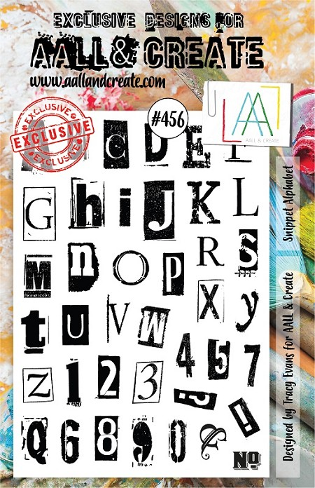 AALL & Create - Clear Stamp A5 size - Set #456 Snippet Alphabet