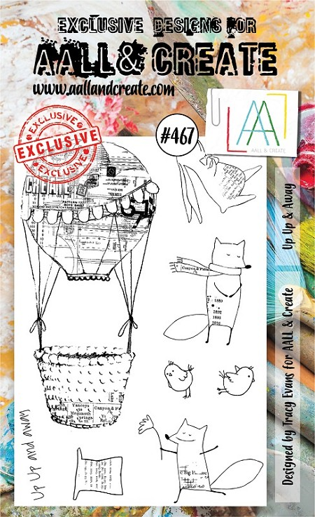 AALL & Create - Clear Stamp A6 size - Set #467 Up Up & Away
