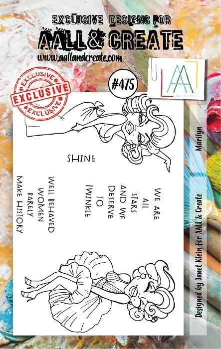 AALL & Create - Clear Stamp A7 size - Set #475 Marilyn