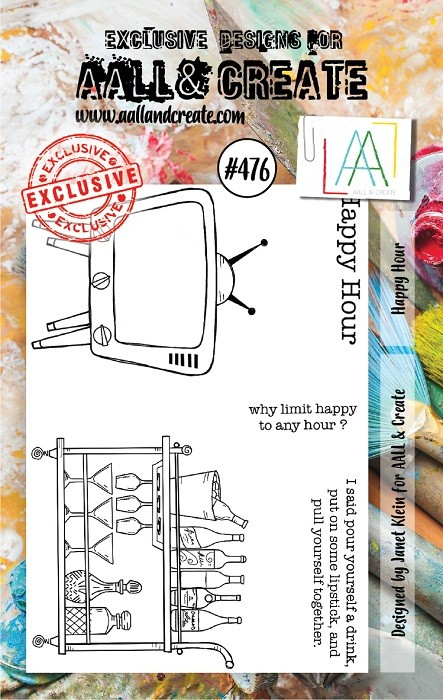 AALL & Create - Clear Stamp A7 size - Set #476 Happy Hour