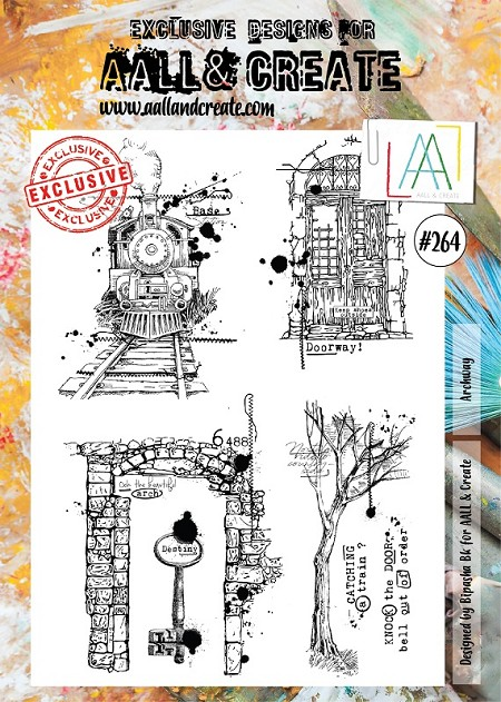 AALL & Create - Clear Stamp A4 size - Set #264 Archway