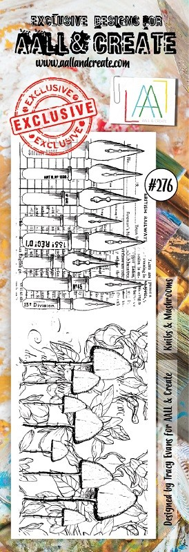 AALL & Create - Clear Stamp Border - Set #276 Nibs & Mushrooms