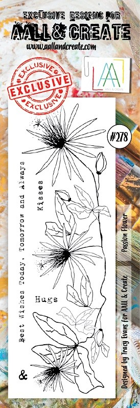 AALL & Create - Clear Stamp Border - Set #278 Passion Flower