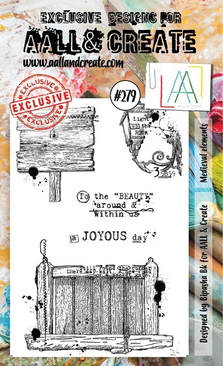 AALL & Create - Clear Stamp A6 Size - Set #279 Medieval Elements