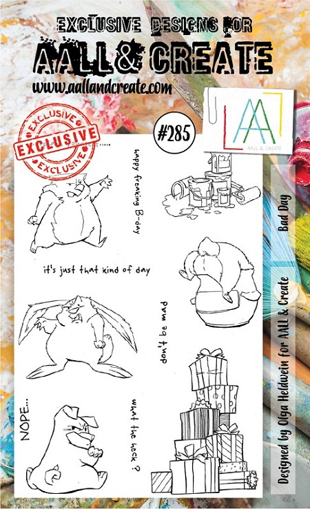 AALL & Create - Clear Stamp A6 Size - Set #285 Bad Day