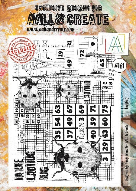 AALL & Create - Clear Stamp A4 size - Set #161 Ladybug