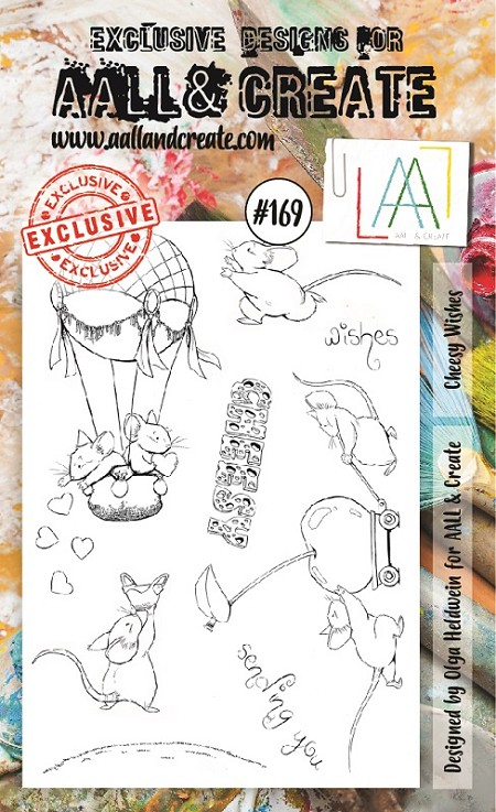 AALL & Create - Clear Stamp A6 size - Set #169 Cheesy Wishes