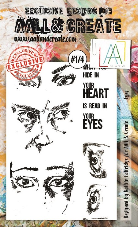 AALL & Create - Clear Stamp A6 size - Set #174 Eyes