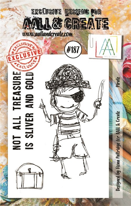 AALL & Create - Clear Stamp A7 size - Set #187 Pirate