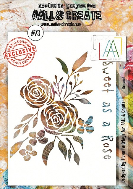"AALL & Create - Plastic Stencil - #73 Bouquet (A5-5.5""x8"")"