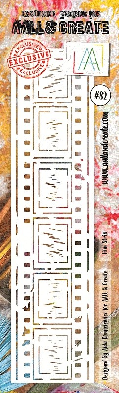 "AALL & Create - Plastic Stencil - #82 Film Strip (Border-8""x2.75"")"