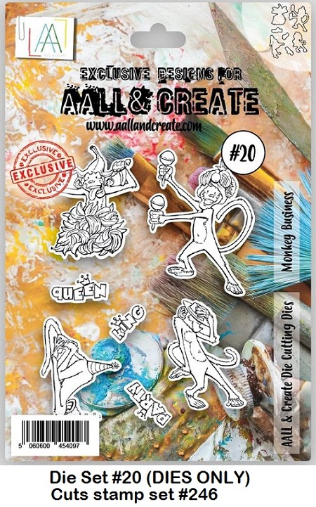 AALL & Create - Die #20 Monkey Business (cuts stamp #246)