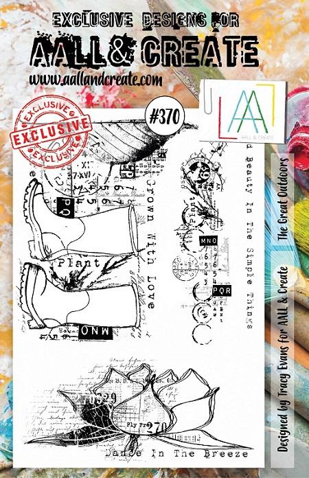 AALL & Create - Clear Stamp A5 size - Set #370 The Great Outdoors