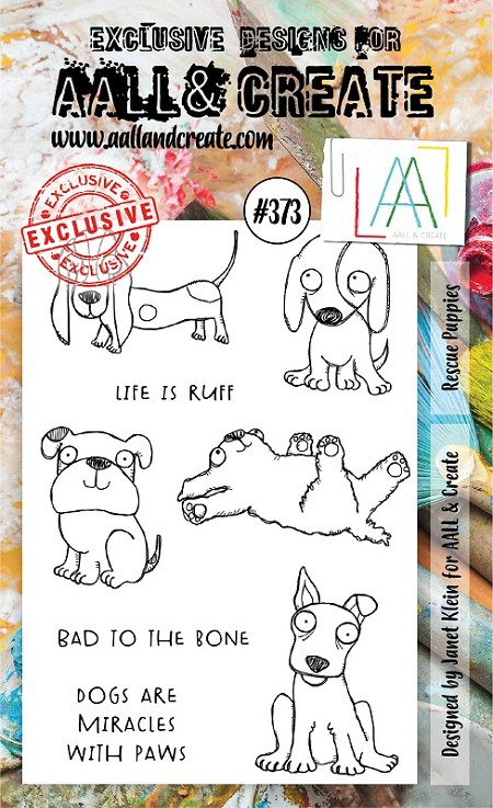 AALL & Create - Clear Stamp A6 size - Set #373 Rescue Puppies