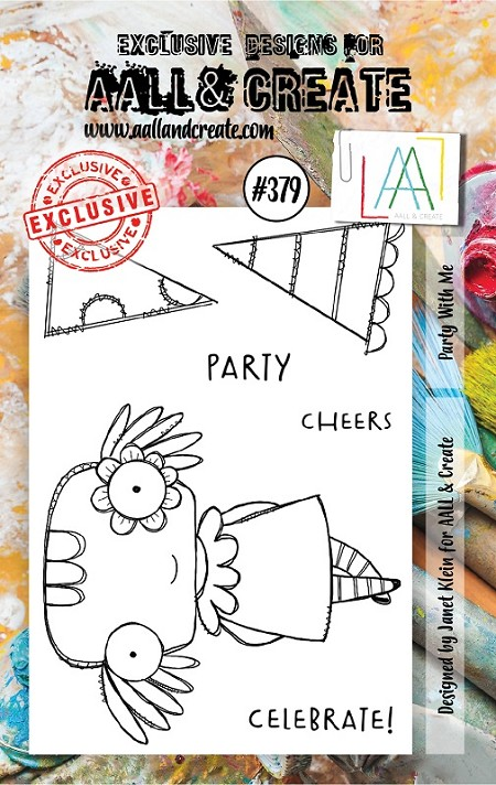 AALL & Create - Clear Stamp A7 size - Set #379 Party with Me