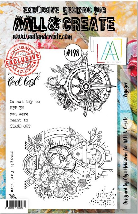AALL & Create - Clear Stamp A5 size - Set #198 Voyager
