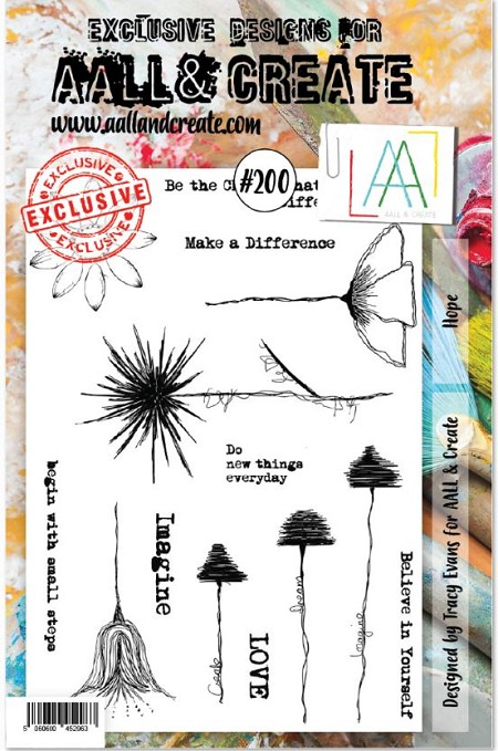 AALL & Create - Clear Stamp A5 size - Set #200 Hope
