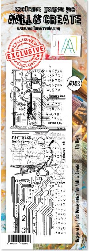 AALL & Create - Clear Stamp Border - Set #203 Fly High