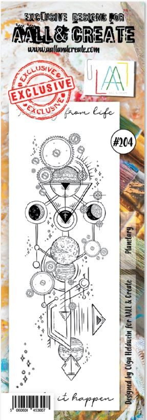 AALL & Create - Clear Stamp Border - Set #204 Planetary