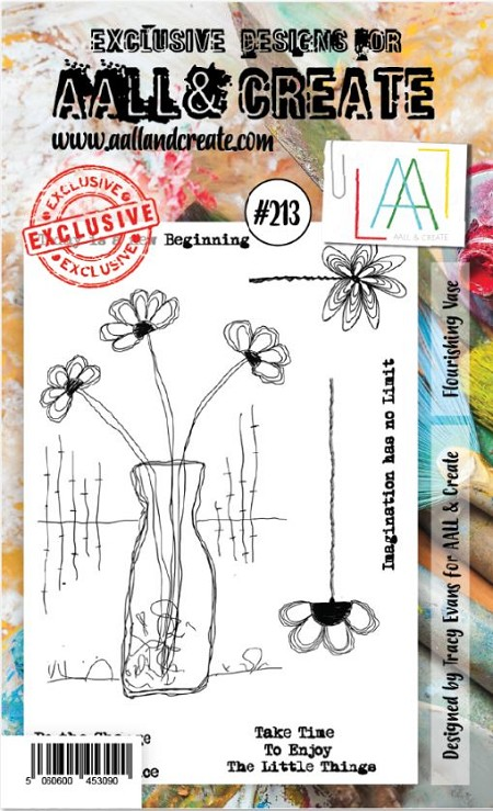 AALL & Create - Clear Stamp A6 size - Set #213 Flourishing Vase