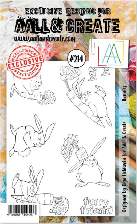 AALL & Create - Clear Stamp A6 size - Set #214 Bunnies