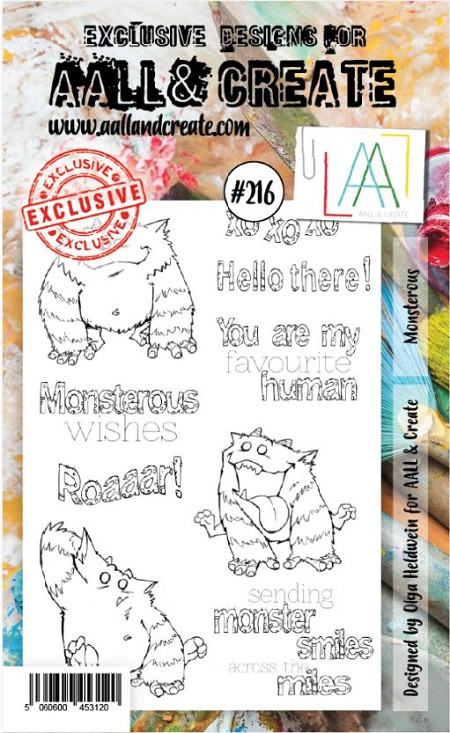 AALL & Create - Clear Stamp A6 size - Set #216 Monsterous