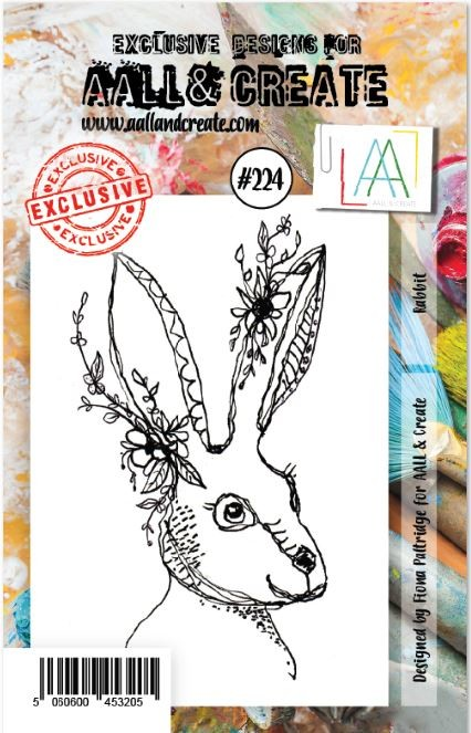 AALL & Create - Clear Stamp A7 size - Set #224 Rabbit