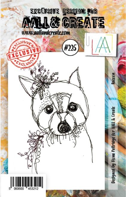 AALL & Create - Clear Stamp A7 size - Set #225 Raccoon