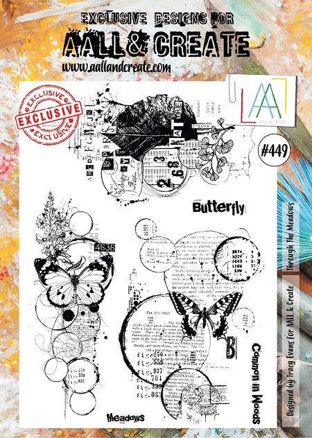 AALL & Create - Clear Stamp A4 size - Set #449 Through the Meadows