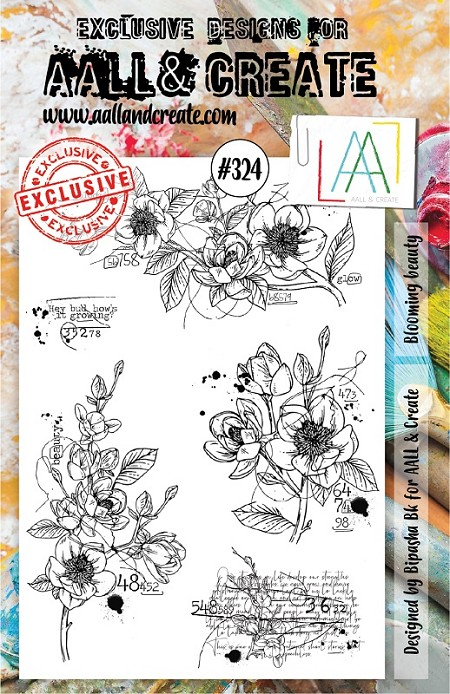 AALL & Create - Clear Stamp A5 size - Set #324 Blooming Beauty