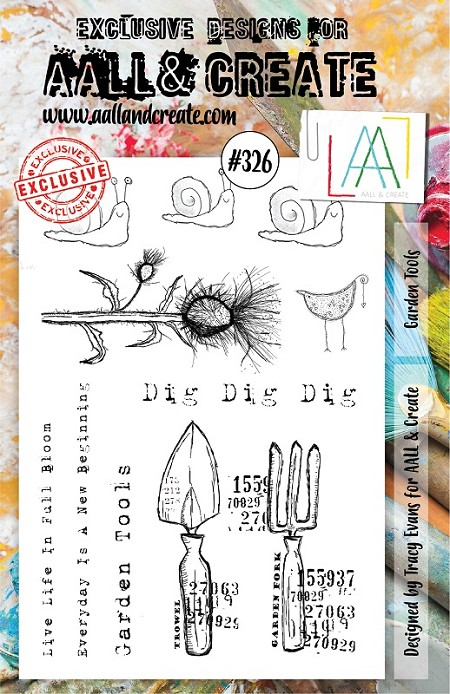 AALL & Create - Clear Stamp A5 size - Set #326 Garden Tools