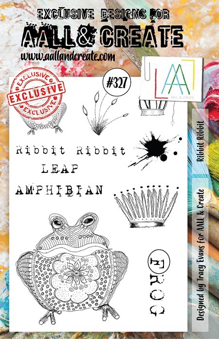 AALL & Create - Clear Stamp A5 size - Set #327 Ribbit Ribbit