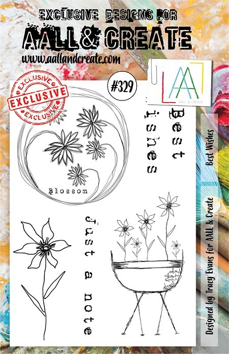 AALL & Create - Clear Stamp A5 size - Set #329 Best Wishes