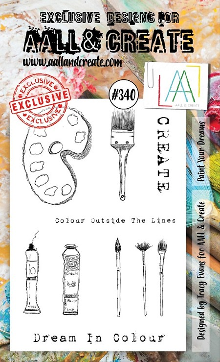 AALL & Create - Clear Stamp A6 size - Set #340 Paint Your Dreams